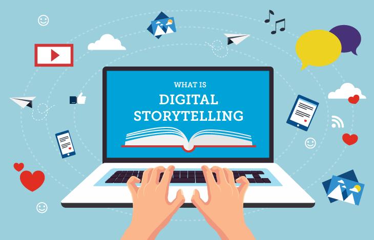 Image illustrant le storytelling digital