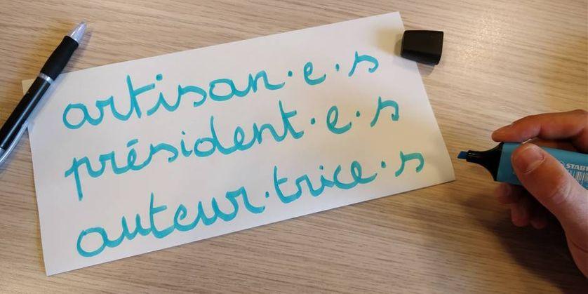 Exemple d'écriture inclusive